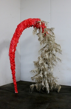 Anima – 2013 (Steel, Wax, Twine, Foam, Paint) 5.5' x 2.5' x 3.5'