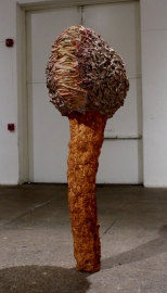 Scramble – 2014 Plaster, Cloth, Paper Mache, Sand, Paint) 6' x 2.5' x 2.5'
