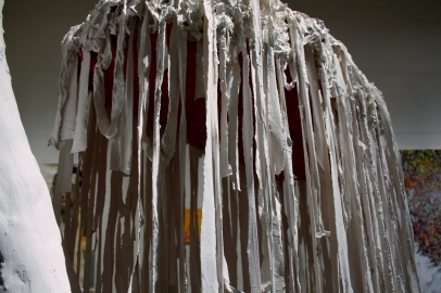Veil – 2014 (Plaster, Cloth) 7' x 2' x 4.5'