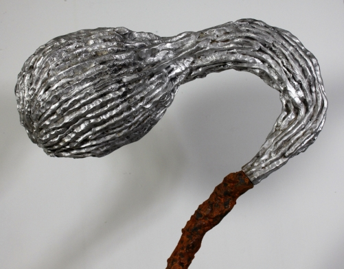 "Incite – 2015 (Cast Iron, Aluminum) 5.5' x 18"" x 2'"